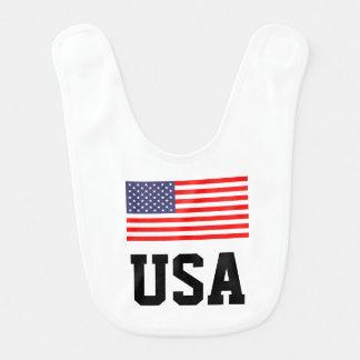 Patriotisk bebishaklapp med amerikanska flaggan hakklapp