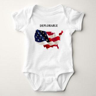 Patriotisk beklagansvärd babyJersey Bodysuit Tröja