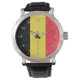Patriotisk belgisk flagga armbandsur