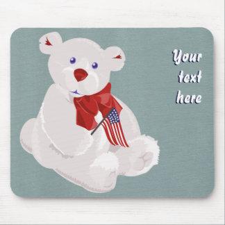 Patriotisk björn Mousepad Musmatta
