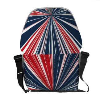 Patriotisk bristningsabstrakt kurir väskor