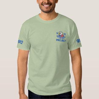 Patriotisk broderi broderad t-shirt