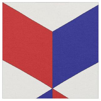 Patriotisk Cubism Tyg
