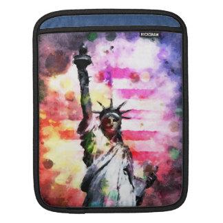 Patriotisk dam av frihet iPad sleeve