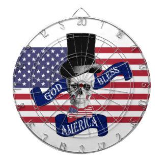 Patriotisk dartboard för stil för välsigna darttavla