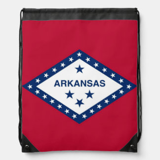 Patriotisk drawstringryggsäck med den Arkansas Gympapåse