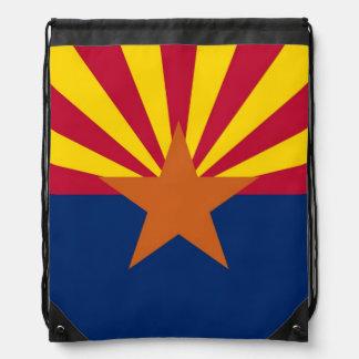Patriotisk drawstringryggsäck med flagga av gympapåse