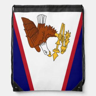 Patriotisk drawstringryggsäck med flagga av Samoa Gympapåse