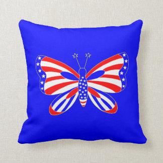 Patriotisk fjäril kudde