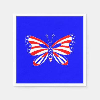 Patriotisk fjäril pappersservett