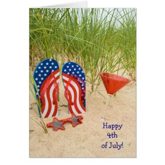 patriotisk flinflip flops hälsningskort