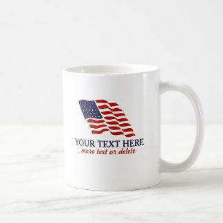 Patriotisk Fourth av anpassningsbar för Juli Kaffemugg