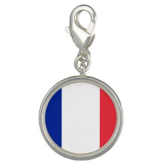 Patriotisk fransk flagga berlocker