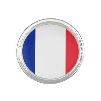 Patriotisk fransk flagga ring med foto