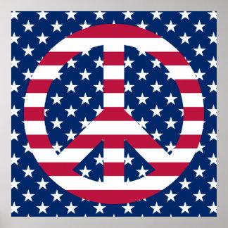 Patriotisk fred poster