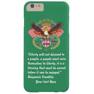 Patriotisk fredskoggrönt Kentucky Barely There iPhone 6 Plus Skal
