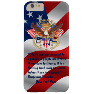 Patriotisk frihetfredflagga barely there iPhone 6 plus fodral