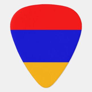 Patriotisk gitarrplocka med flagga av Armenien Plektrum