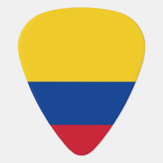 Patriotisk gitarrplocka med flagga av Colombia Plektrum