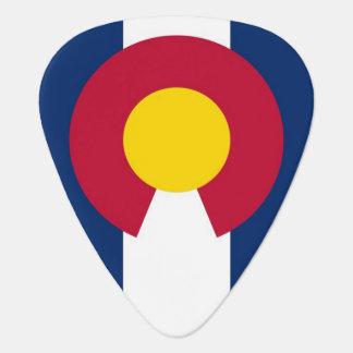 Patriotisk gitarrplocka med flagga av Colorado Plektrum