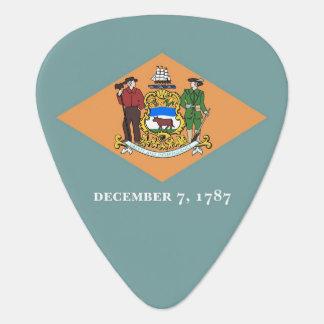 Patriotisk gitarrplocka med flagga av Delaware Plektrum