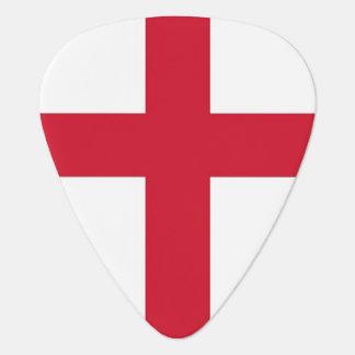 Patriotisk gitarrplocka med flagga av England Plektrum