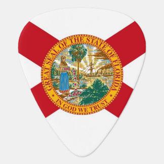 Patriotisk gitarrplocka med flagga av Florida Plektrum