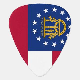 Patriotisk gitarrplocka med flagga av Georgia Plektrum