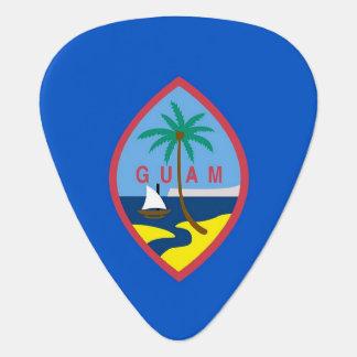 Patriotisk gitarrplocka med flagga av Guam Plektrum