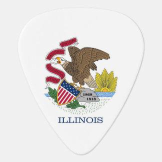 Patriotisk gitarrplocka med flagga av Illinois Plektrum