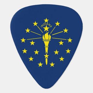 Patriotisk gitarrplocka med flagga av Indiana Plektrum