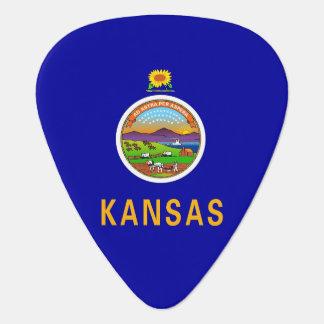 Patriotisk gitarrplocka med flagga av Kansas Plektrum