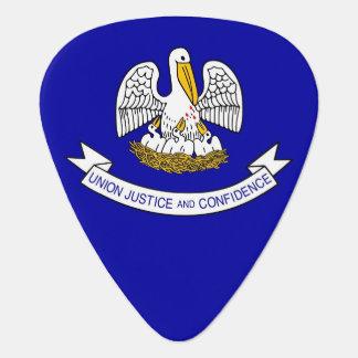 Patriotisk gitarrplocka med flagga av Louisiana Plektrum