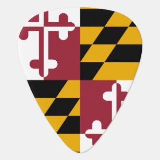 Patriotisk gitarrplocka med flagga av Maryland Plektrum