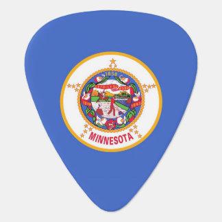 Patriotisk gitarrplocka med flagga av Minnesota Plektrum