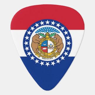 Patriotisk gitarrplocka med flagga av Missouri Plektrum