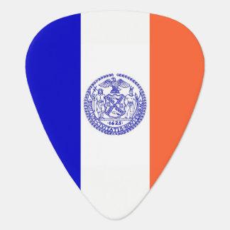 Patriotisk gitarrplocka med flagga av New York Plektrum