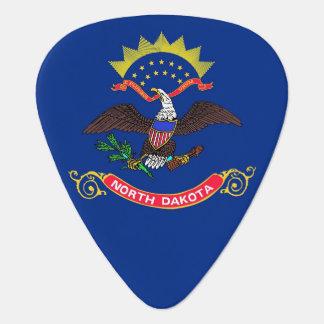 Patriotisk gitarrplocka med flagga av North Dakota Plektrum