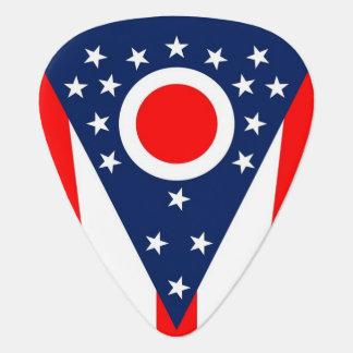 Patriotisk gitarrplocka med flagga av Ohio Plektrum