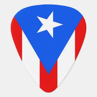 Patriotisk gitarrplocka med flagga av Puerto Rico Plektrum