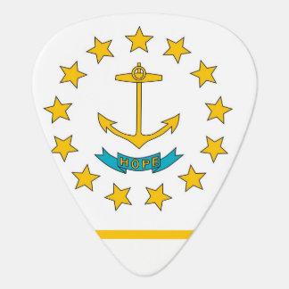 Patriotisk gitarrplocka med flagga av Rhode - ö Plektrum