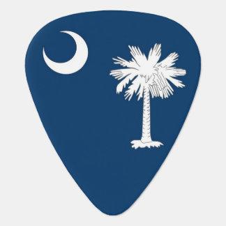 Patriotisk gitarrplocka med flagga av South Plektrum
