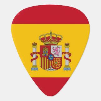 Patriotisk gitarrplocka med flagga av Spanien Plektrum