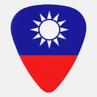 Patriotisk gitarrplocka med flagga av Taiwan Plektrum