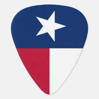 Patriotisk gitarrplocka med flagga av Texas Plektrum