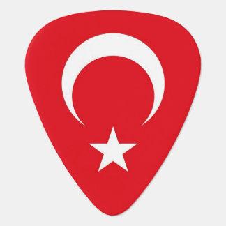 Patriotisk gitarrplocka med flagga av Turkiet Plektrum