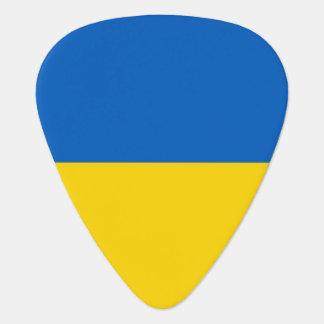 Patriotisk gitarrplocka med flagga av Ukraina Plektrum