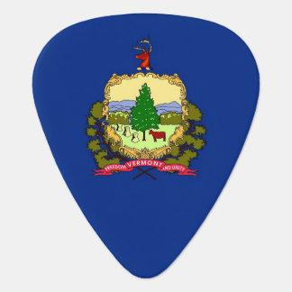 Patriotisk gitarrplocka med flagga av Vermont Plektrum