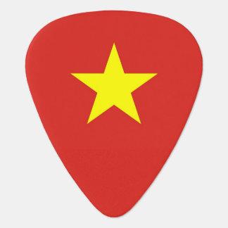 Patriotisk gitarrplocka med flagga av Vietnam Plektrum