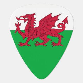 Patriotisk gitarrplocka med flagga av Wales Plektrum